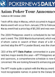 Poker News Daily - Oct. 2008