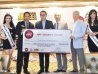 Ante Up for Charity Awarding of Cheque