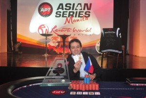 APT Asian Series Manila 2012 Main Event Champion: Jose Javier Medina